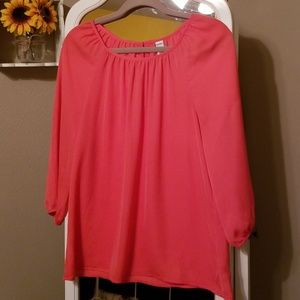 Old Navy Coral 3/4 Sleeve Blouse | SIZE M